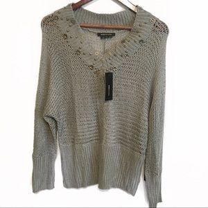 BCBGMAXAZRIA NWT Grey Sweater Size Medium